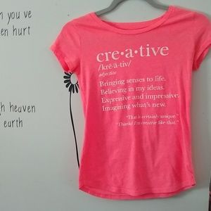 Children's large are women's small T-shirt coral